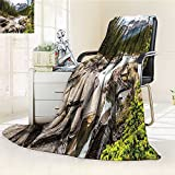 AmaPark Digital Printing Blanket River Float in Northern Recreation Camping Rafting Woods Print Summer Quilt Comforter