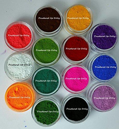 14g Grams LOT OF 14 JARS 1 gram Each Neon OXIDE Ultramarine