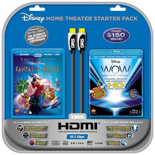 Disney WOW: World of Wonder (Single-Disc Blu-ray)w/HDMI Cable + Fantasia/2000 (4-Disc BD Combo)