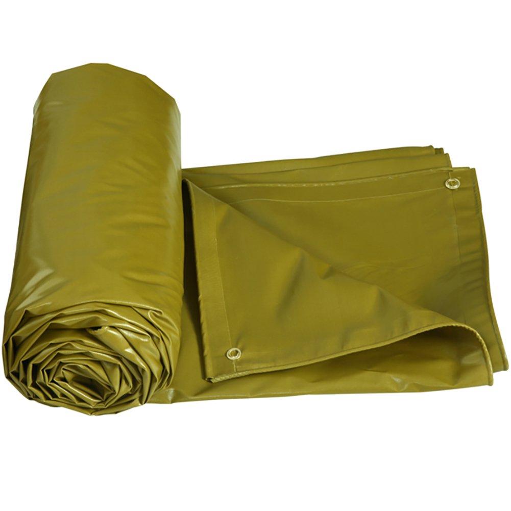 GUOWEI-pengbu ターポリン キャンバス シェード 日焼け止め 防水 老化防止 腐食保護 ポリエステル糸 屋外 5色 (色 : 黄色ダーク, サイズ さいず : 4.85x3.85m) B07FZ7SK1N 4.85x3.85m|黄色ダーク 黄色ダーク 4.85x3.85m