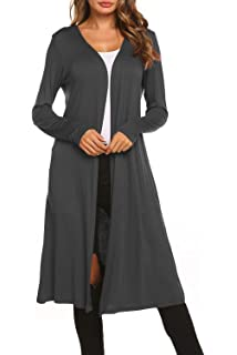 c9d2c4b00a BLUETIME Women Plus Size Long Open Front Drape Maxi Cardigan Lightweight  Duster Long Sleeve Cardigan (