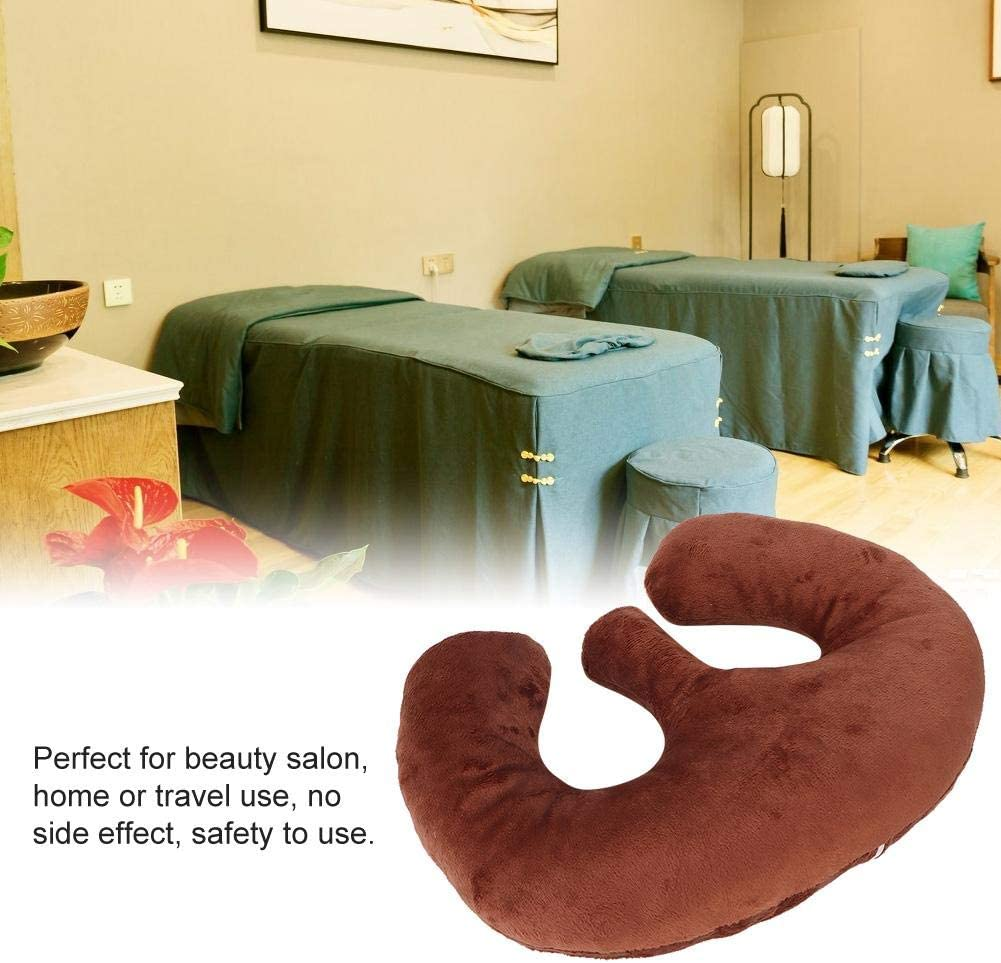 M-Type SPA Massage Chest Supporting Pillow Pad Cushion to Eliminates Pressure Points Beauty Salon Breast Support Pillow Purple