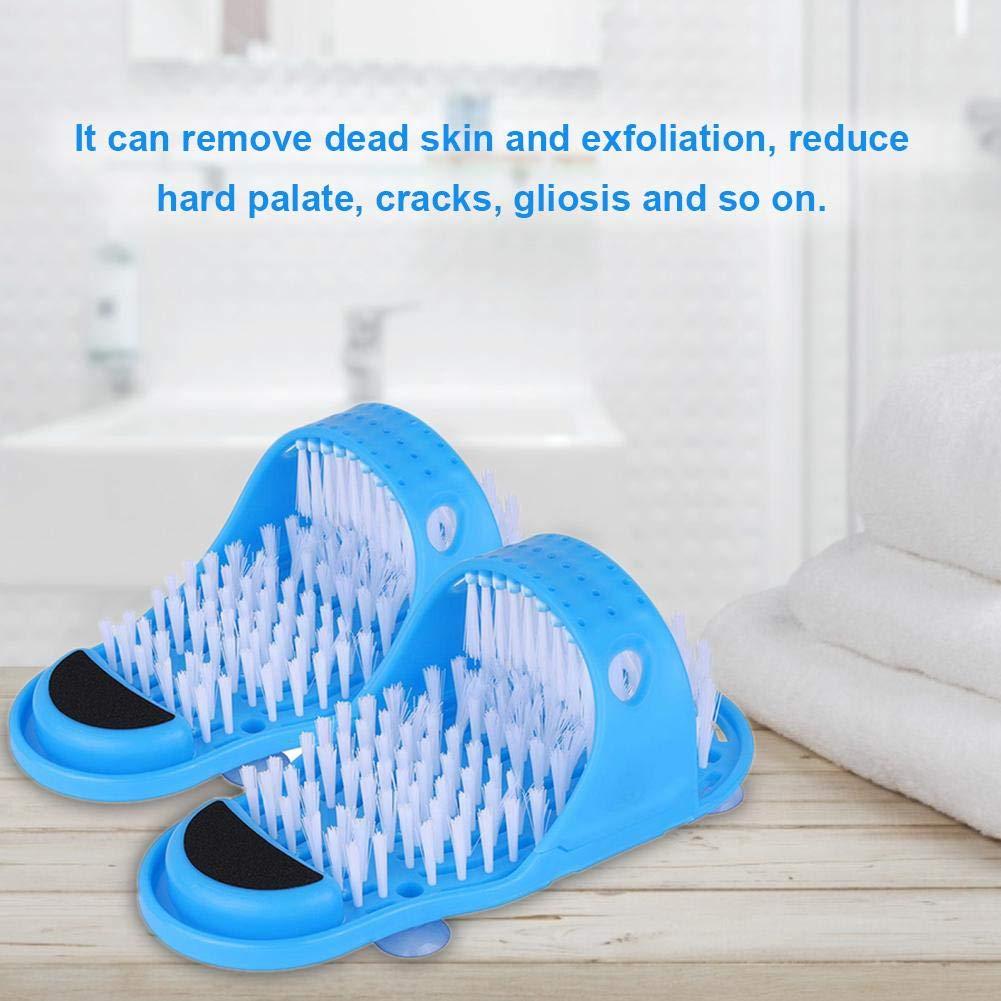 sin agacharse para Cuarto de ba/ño Minear Color Azul Limpieza de pies Cepillo de pies Masajeador de pies Cepillo con ventosas Ducha masajeador