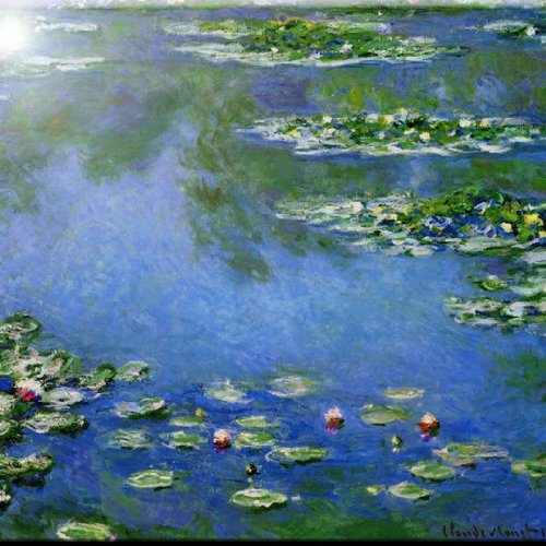 "Rikki Knight RK-12intilec-3552 12"" X 12"" Claude Monet Art Water Lilies Design Ceramic Art Tile from Rikki Knight"