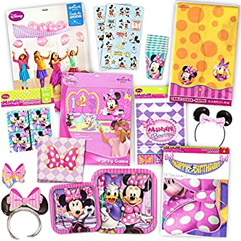 disney minnie mouse bows party supplies pack including