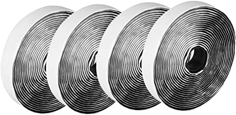 """1/"""" x 5 Yard 15 FT Self Adhesive Hook and Loop Sticky Tape 25mm Fabric Fastener"""