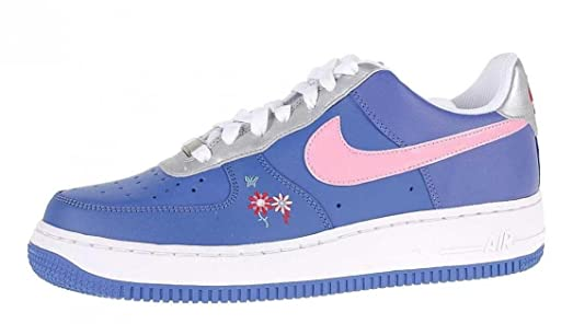 Las Chicas De Nike Air Force  1 Gs Moonlight Azul  Force Perfect Pink ec976b