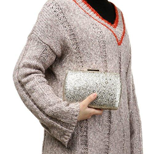 Evening Ladies Women Wedding Purses Glitter Clutch Silver Sequin for Bag Bag Clutch Sparkly Clutch pwAYIZxq