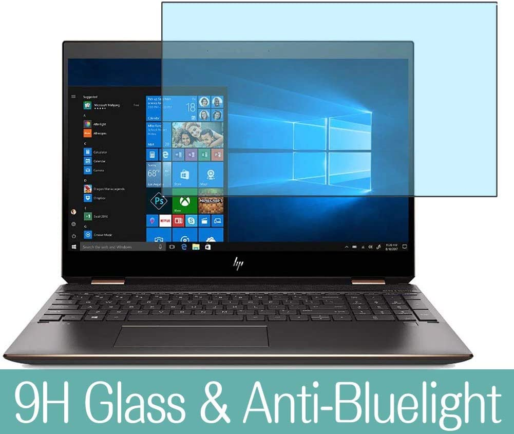 """Synvy Anti Blue Light Tempered Glass Screen Protector for HP Spectre x360 15-df0009TX 5KU78PA-AAAA 15.6"""" Visible Area 9H Protective Screen Film Protectors"""