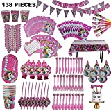 Unicorn Party Supplies and decorations by E-Z Parties, 138 Pieces Complete Party Set-up for birthdays, Baby Showers and more, Everything You Need for a Perfect Celebration, Serves 10