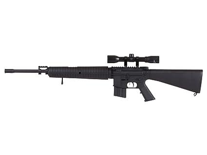 Crosman DPMS A4 DCNP7SX Break Barrel Air Rifles Nitro Piston with 4x32 Scope