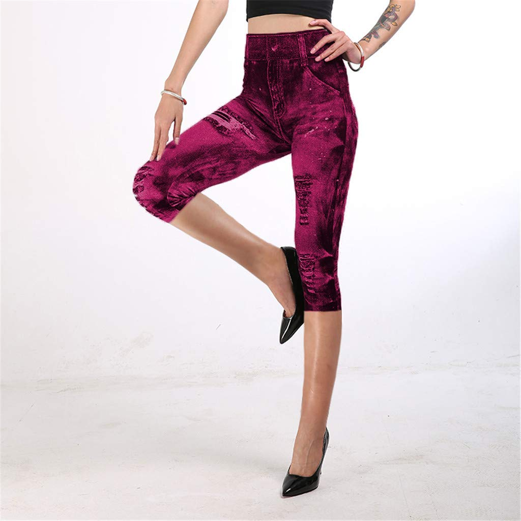 QIMANZI Pantalones Vaqueros para Mujer, Parte Inferior de ...