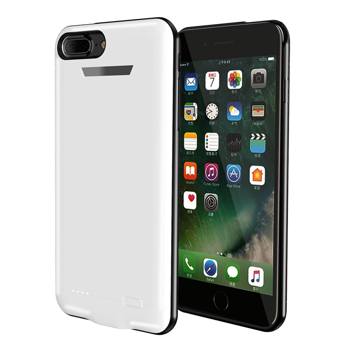 iPhone 7 iPhone 8 Battery Case- Cover Protective Portable Rechargeable Charging case Compatible with iPhone 7 iPhone 8 Bank Power Pack -White