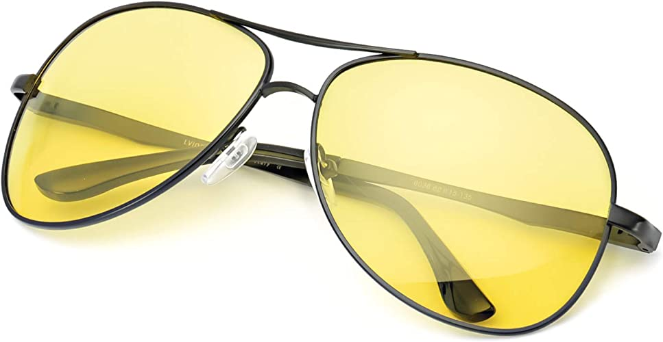HD Polarized Sunglasses Men/'s Retro Pilot Metal Outdoor Drving Eyewear Glasses