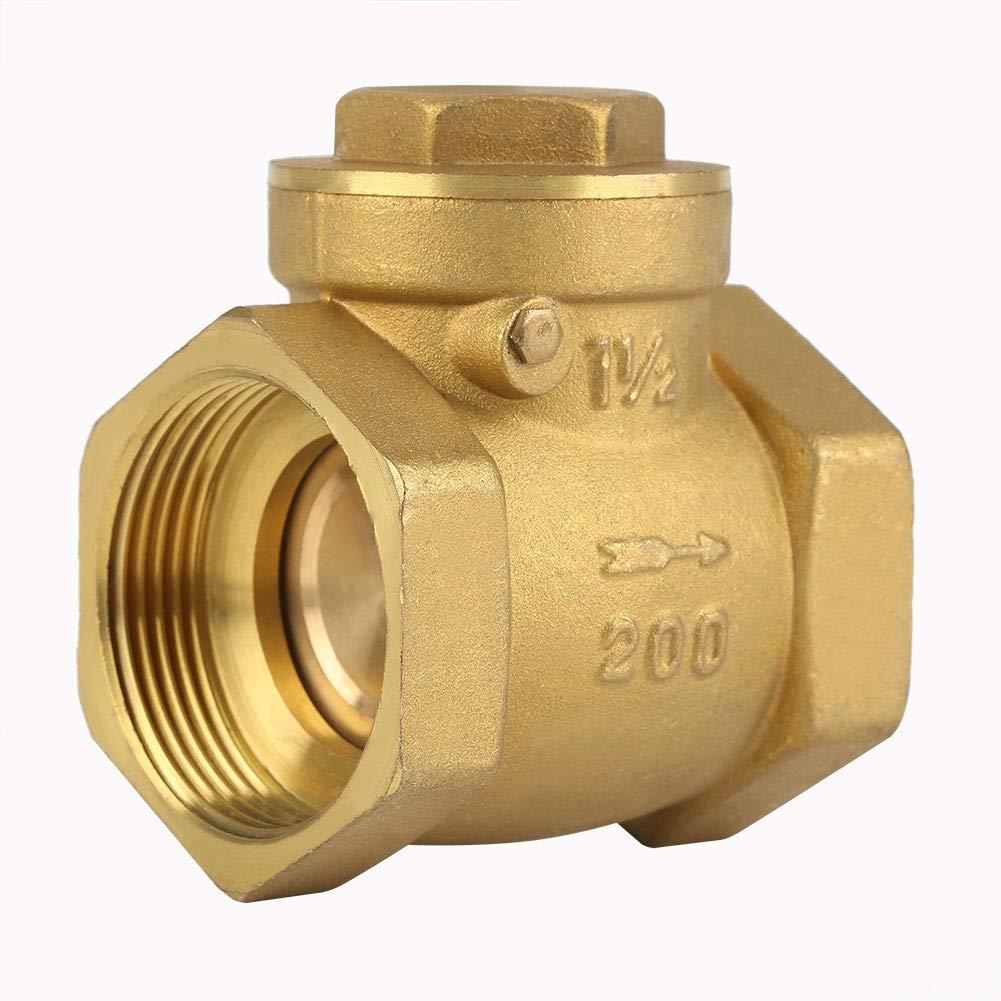 Gelb DN32 BSP 1-1//4 IG Messing R/ückschlagventil 232PSI verhindert Wasser R/ückflie/ß