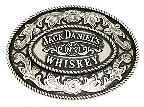 Jack Daniel`s Belt Buckle Old No 7 Brand Western Style Black Officially Licensed Product