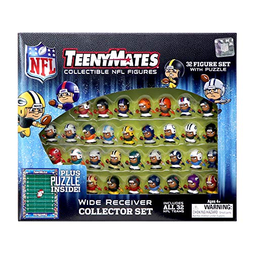 Party Animal TeenyMates NFL Wide Receiver Collector Set, 32 Mini Collectible Football Figures