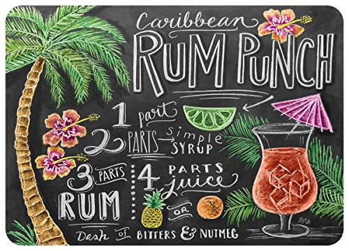 "Premium Comfort Rum Punch Mat by Lily & Val, 22"" x 31"", Multicolor"