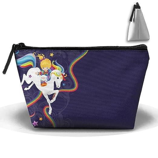 Beau Rainbow Brite And Starlite Memories Makeup Bag Storage Portable Travel Wash  Tote Zipper Wallet Handbag Carry