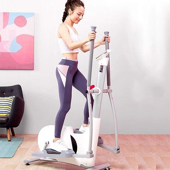 Elíptica Máquinas de ejercicios de entrenamiento suave Driven Elíptica Trainer máquina for uso en el hogar for el hogar aptitud entrenamiento cardiovascular Quiet (Color : White , Size : Free size) : Amazon.es: Hogar