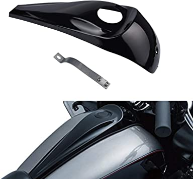 Gloss Black Smooth Dash Fuel Console For Harley Davidson Touring 2008-2017 New