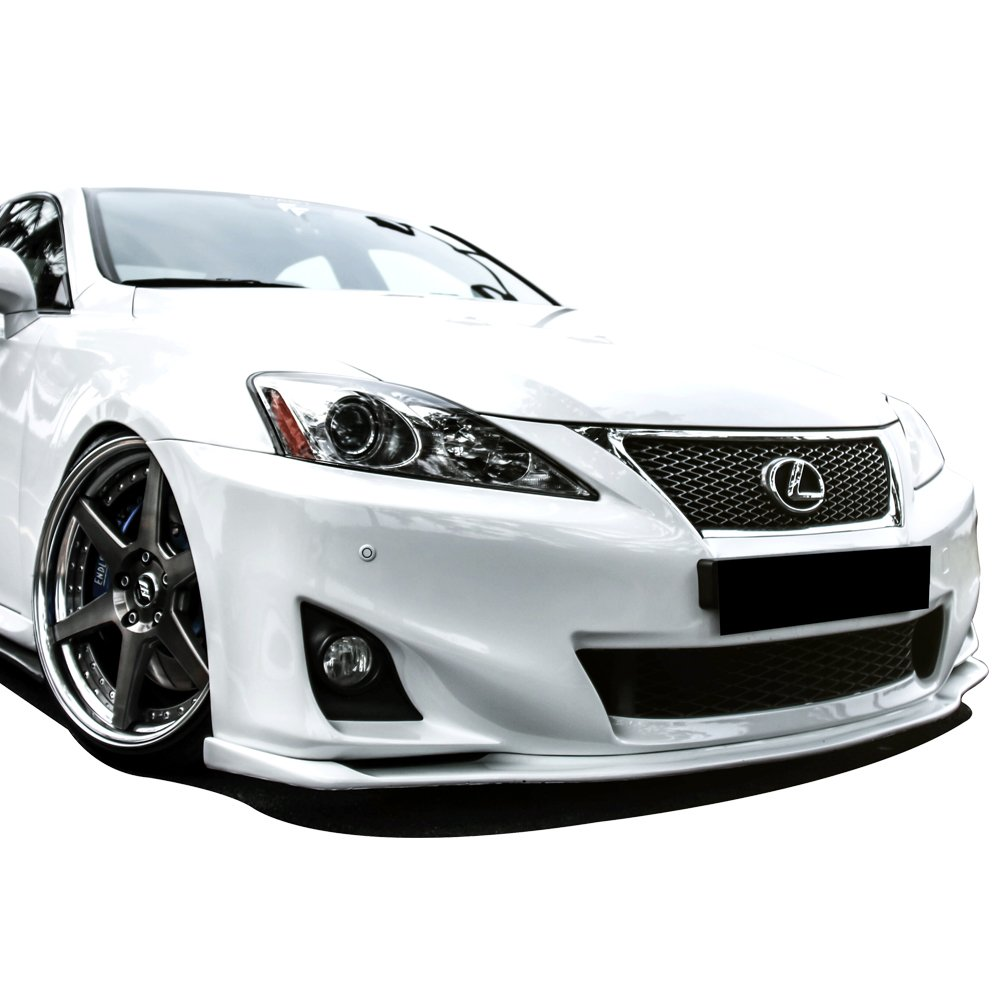 2012 Front Bumper Lip Fits 202011-2013 Lexus IS250 IS350 JDM Style Black Spoiler Splitter Valance Fascia Cover Guard Protection Conversion by IKONMOTORSPORTS