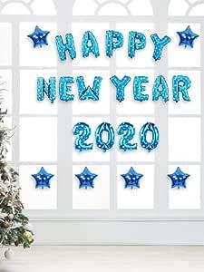 Amazon.com: 2020 Happy New Year Decorations Set, Gold Bule ...