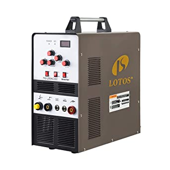 Lotos TIG200ACDC 200A AC/DC Aluminum Tig Welder with DC Stick/Arc Welder,  Square Wave Inverter with Foot Pedal and Argon Regulator 110/220V Dual