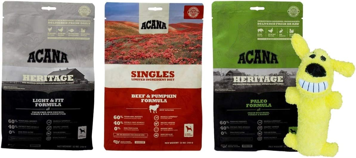 ACANA Dry Dog Food Kibble 3 Flavor Sampler