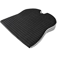 Iycorish Car Wedge Seat Cushion for Car Driver Seat Office Chair Wheelchairs Memory Foam Seat Cushion-Orthopedic Support…