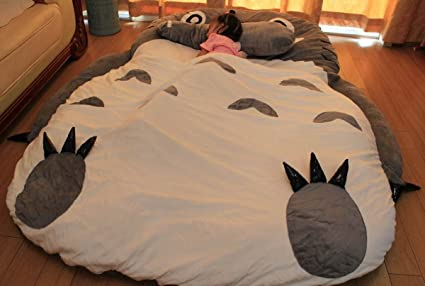 Amazon.com  Huge Cute Cartoon Totoro Double bed Totoro sleeping bag ... d653ab55f3