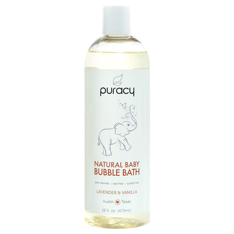 Puracy Natural Baby Bubble Bath, Lavender & Vanilla, Tear-Free, Sulfate-Free, Hypoallergenic, 16 Ounce
