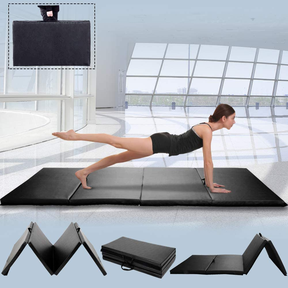 Details about  /High Density Foam Folding Gym Mat Yoga Tumbling Slimming