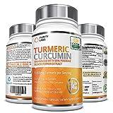1st Certified Organic Turmeric Curcumin - 1,100mg Turmeric per Serving - 120 Vegan Capsules with Piperine Black Pepper Extract and 95% Curcuminoids, Non-GMO, Gluten-Free, Increased Bioavailability