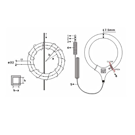 Amazon Com Lanlanmaoyimg Ammeter Flexible Coil Ac Leakage Current