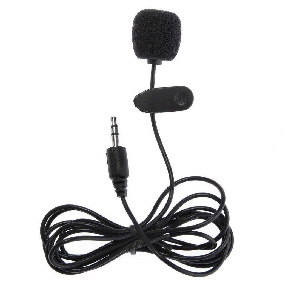 Professional Microphone plastic black durable Clip On Mini Mic 3.5mm Plug for MP3 Mobile Phone Tablet ASTrade
