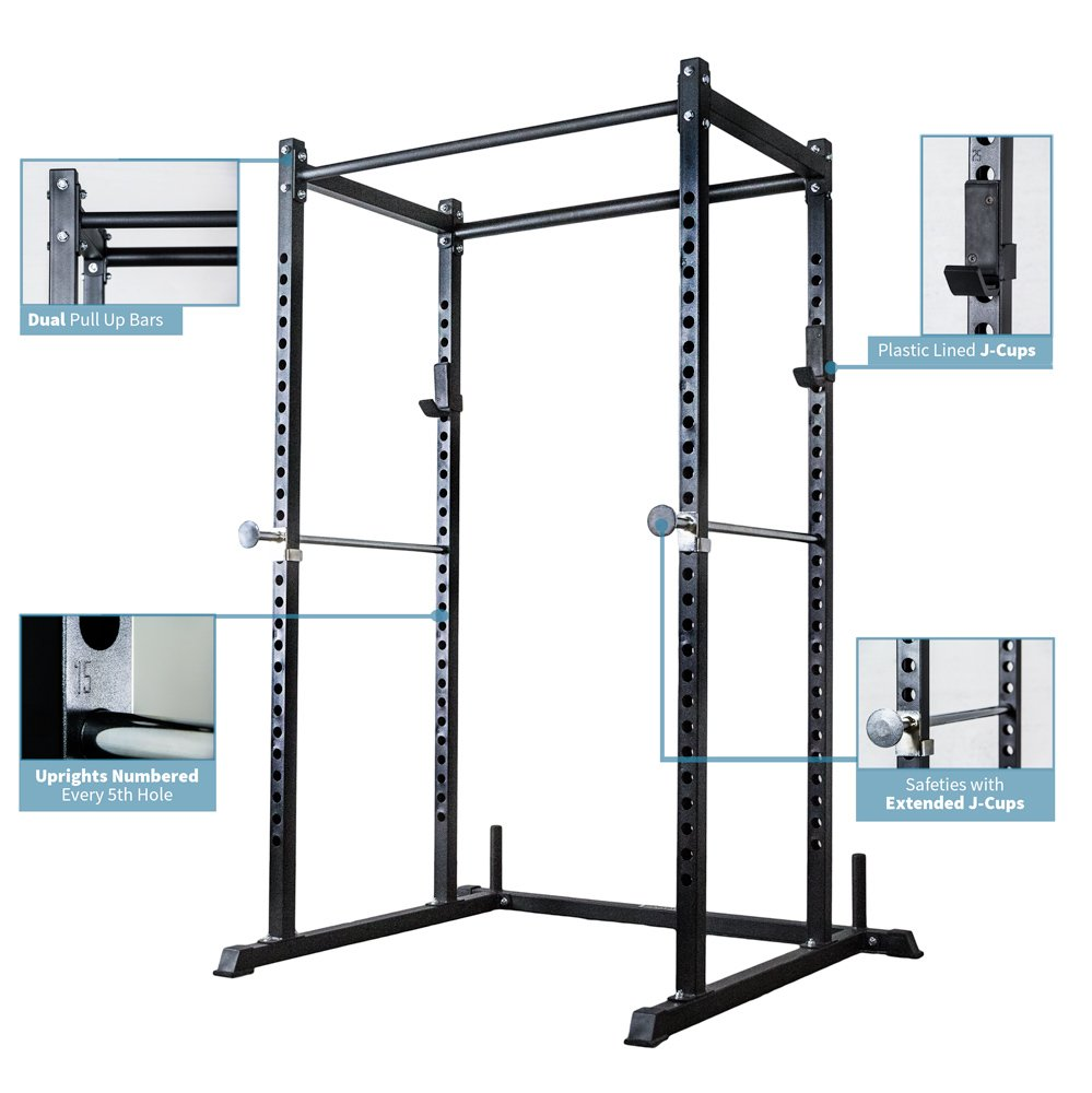 Rep Power Rack with Dual Pullup Bars