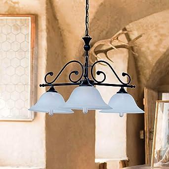Landhaus Hangeleuchte Mit Alabasterglas E27 Fassung Deckenlampe