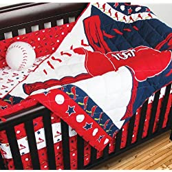 St. Louis Cardinals 5 Piece Crib Set includes (Comforter, Dust Ruffle, 2 Fitted Sheets, and Bumper Pads)- All pieces fit a standard size crib - Save Big By Bundling!