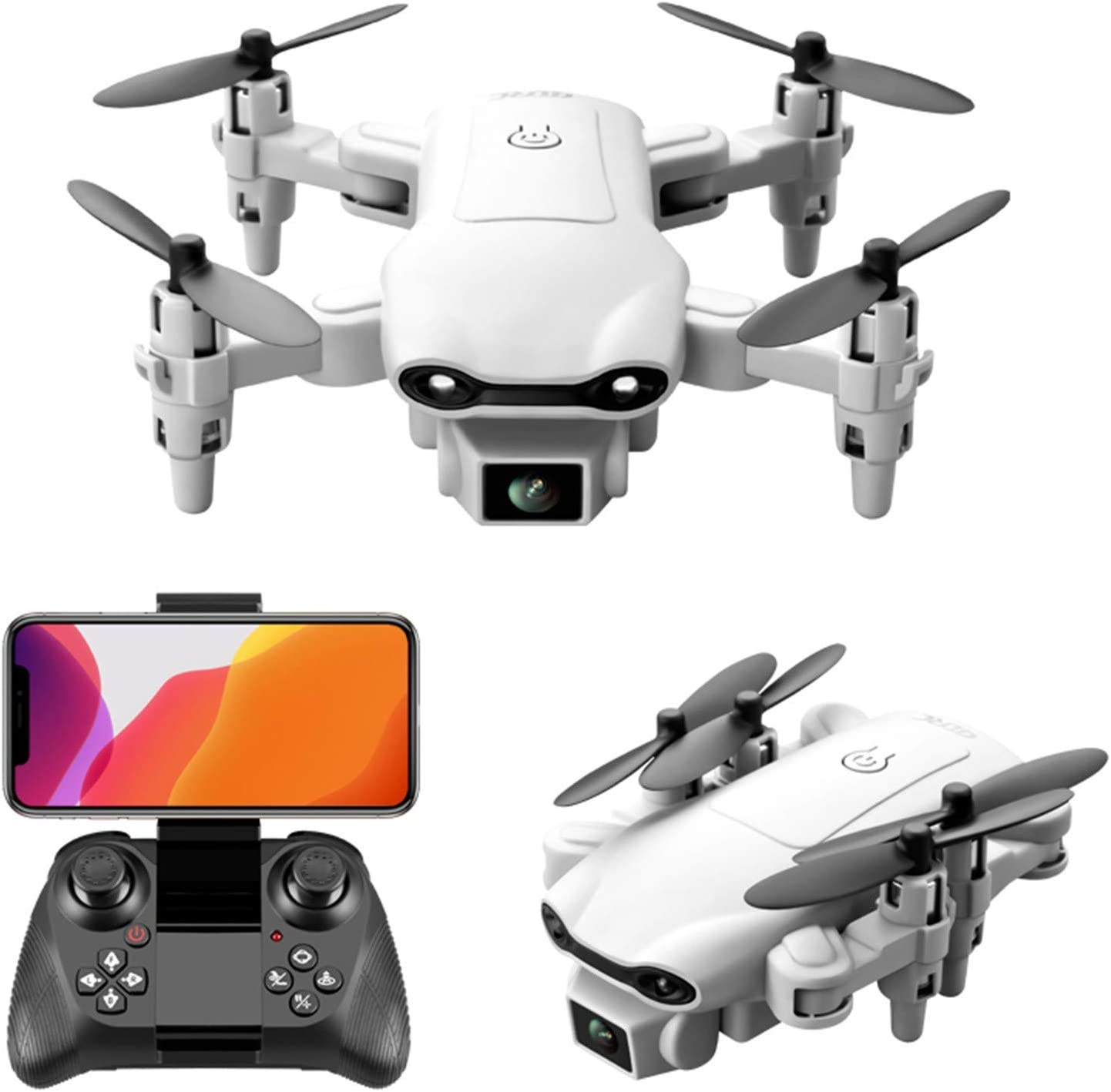 WiFi FPV Drone with VR Glasses Mini Drones with 4K Dual Camera Foldable Drone RC Quadcopter one Key to Return Home, Flight Path Gesture Photo,3Battery