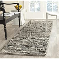 Safavieh Bohemian Collection BOH525K Hand-Knotted Grey and Multi Jute Runner (26 x 22)