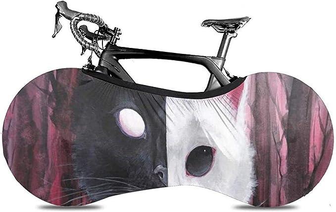 Funda para Bicicleta,Gatos En Blanco Y Negro Cubiertas De ...