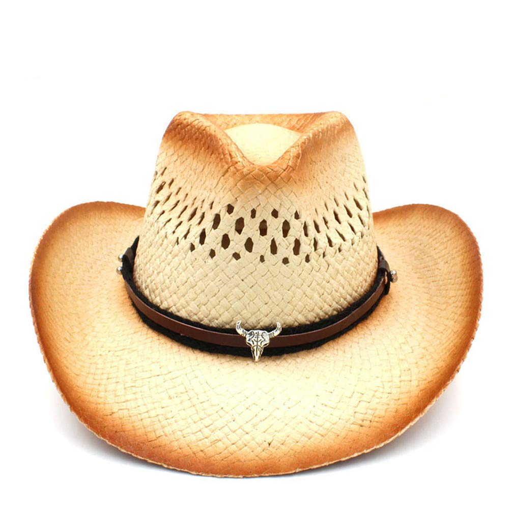 Behsaj Women Men Western Cowboy Hat by Behsaj