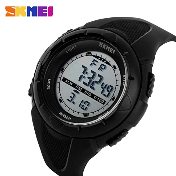 Skmei reloj Digital, SINMA al aire libre deporte precisión 12/24 horas reloj de