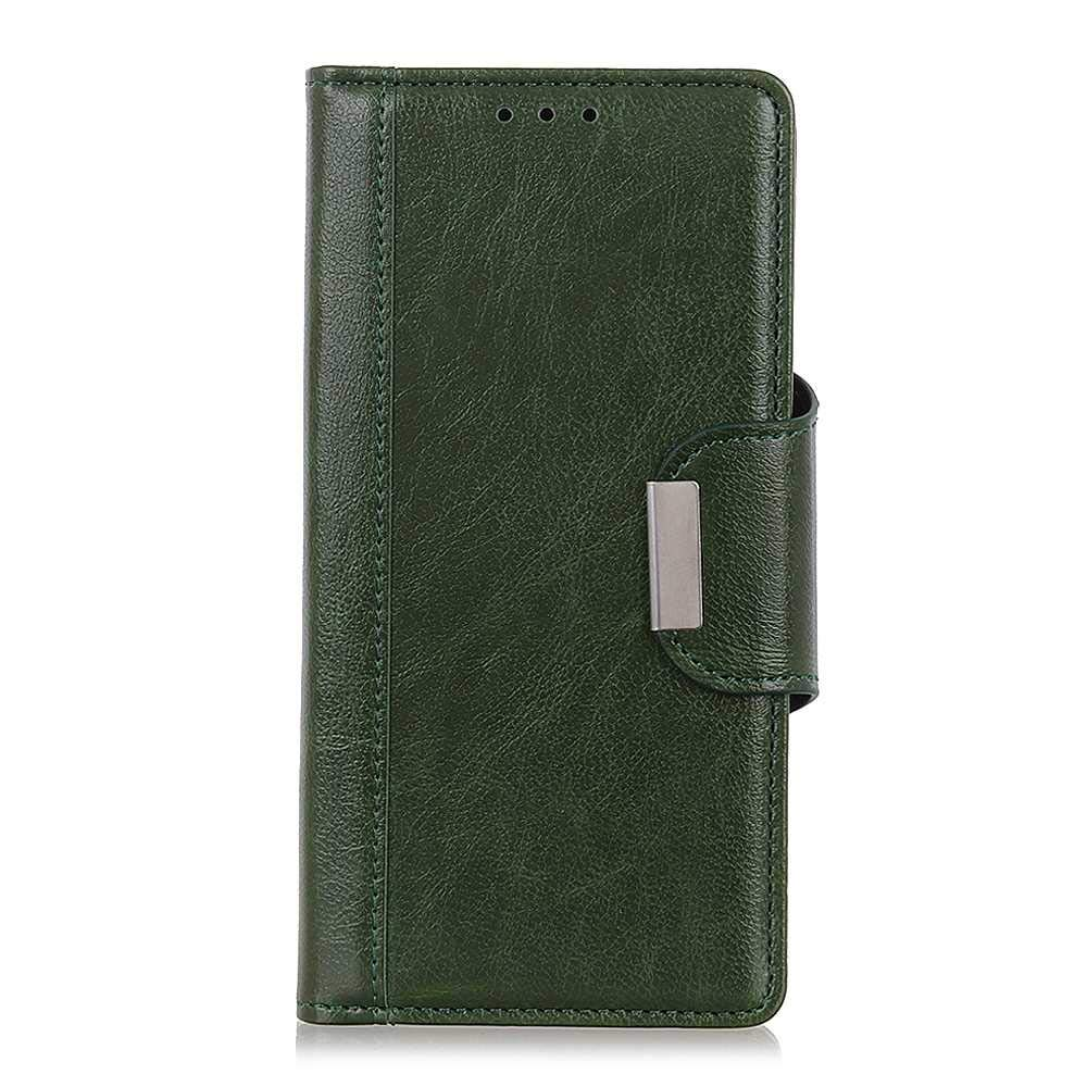 The Grafu Wallet Case for Xiaomi Redmi Note 7, Folding Leather Protective Case, Strong Magnetic Closure Cover with Card Slots and Kickstand, Green by The Grafu