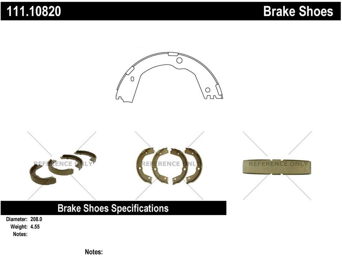 Centric 111.10820 Centric Brake Shoes