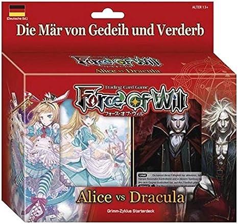 Fuerza de voluntad - ira-ciclo - mazo de iniciación - Alicia VS Drácula - alemán: Amazon.es: Juguetes y juegos