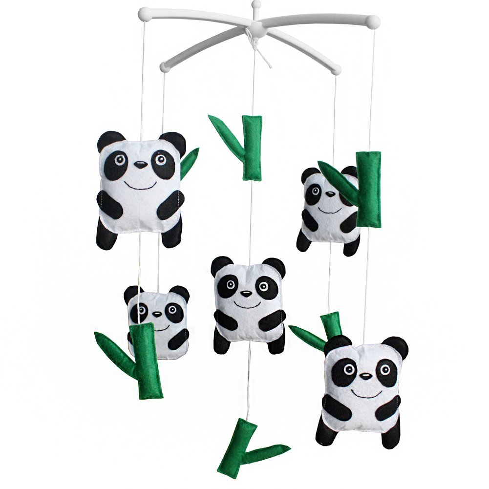 Bébé Jouets musicaux Berceau Rêves mobile Lit suspendu de Bell Panda Blancho Bedding
