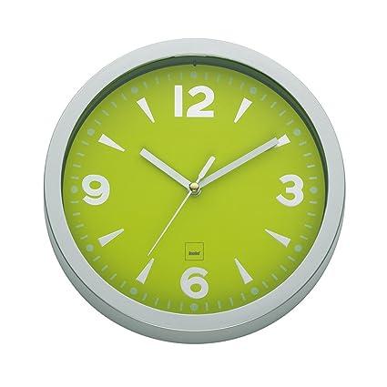 kela 21293 - Reloj de pared para cocina, color verde lima