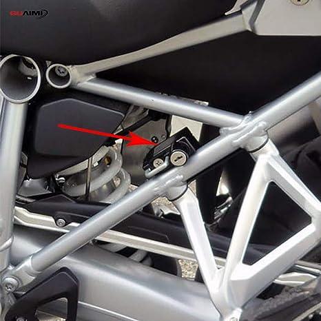 GUAIMI Blocco del casco del motociclo Blocco di sicurezza antifurto in alluminio per B-M-W R1200GS LC 2013-2019 R1200GS Adventure 2014-2019 R1250GS 2018-2019 arancia
